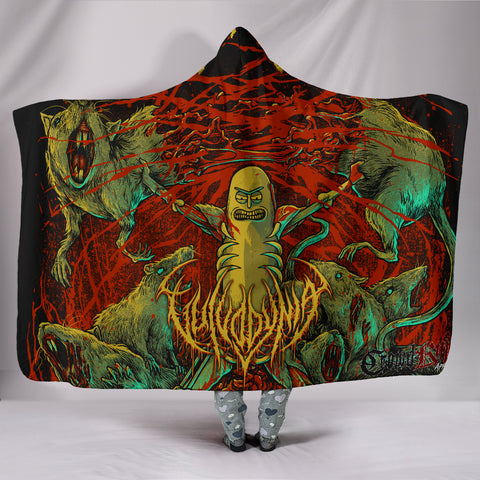 Official Vulvodynia Pickle Rick Hooded Blanket