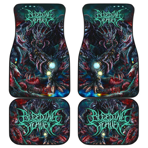 Official Bleeding Heaven Evolutionary Descendant of Brutality Car Floor Mats - Crowdkill Apparel Death Metal Deathcore Hardcore Slam Merchandise
