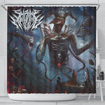 Official Shrine Of Malice Malignance Shower Curtain - Crowdkill Apparel Death Metal Deathcore Hardcore Slam Merchandise