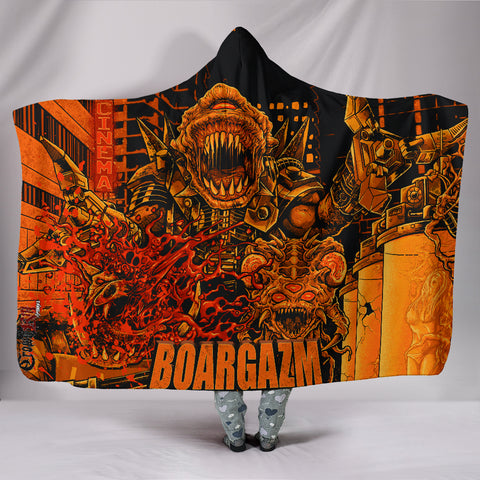 Official Boargazm Space Pigs Hooded Blanket - Crowdkill Apparel Death Metal Deathcore Hardcore Slam Merchandise