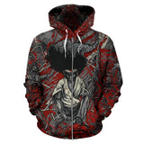 Official Vulvodynia Afro Slamurai Zip-up - Crowdkill Apparel Death Metal Deathcore Hardcore Slam Merchandise