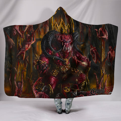 Official Architect of Dissonance  Realm Of The Deviant Throne Hooded Blanket