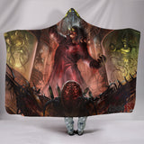 Official Architect Of Dissonance Vile Mechanical Origin Of Human Virulency Hooded Blanket