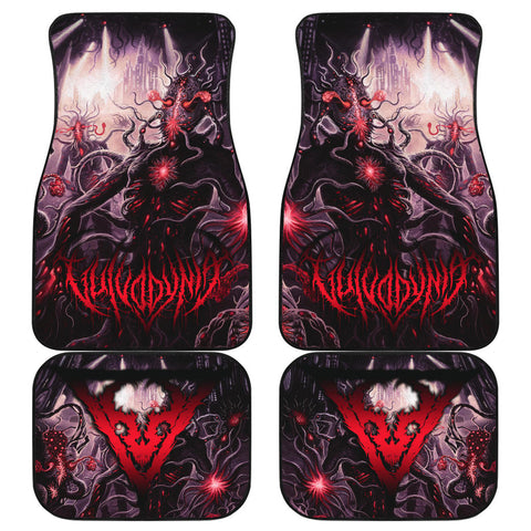 Official Vulvodynia Finis Omnium Ignorantiam Car Floor Mats - Crowdkill Apparel Death Metal Deathcore Hardcore Slam Merchandise