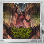 Official Architect Of Dissonance Vile Mechanical Origin Of Human Virulency Shower Curtain - Crowdkill Apparel Death Metal Deathcore Hardcore Slam Merchandise
