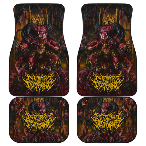 Official Architect of Dissonance  Realm Of The Deviant Throne Car Floor Mats - Crowdkill Apparel Death Metal Deathcore Hardcore Slam Merchandise