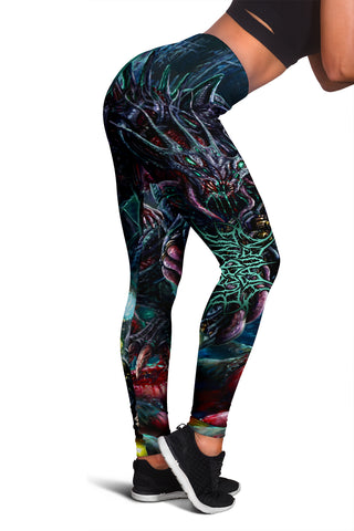 Official Bleeding Heaven Evolutionary Descendant of Brutality Leggings - Crowdkill Apparel Death Metal Deathcore Hardcore Slam Merchandise
