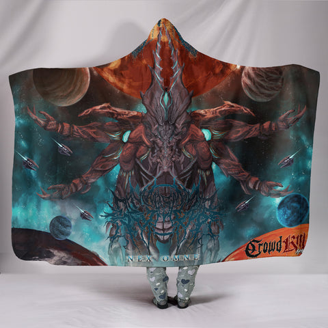 Official Gamma Sector Nex Omne Hooded Blanket - Crowdkill Apparel Death Metal Deathcore Hardcore Slam Merchandise