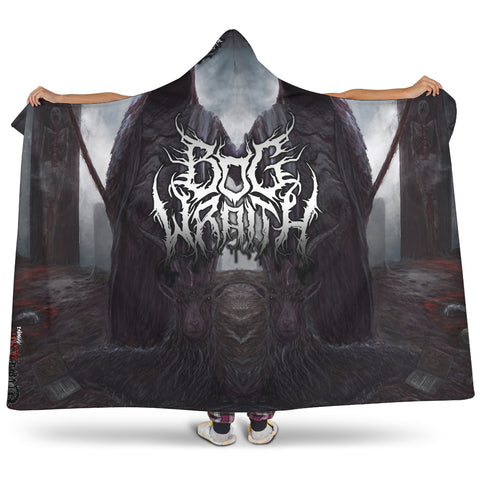 Official Bog Wraith All Hail Hooded Blanket - Crowdkill Apparel Death Metal Deathcore Hardcore Slam Merchandise