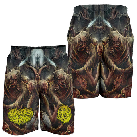Official Bleeding Spawn Pathogenic Mechanized Abomination Shorts - Crowdkill Apparel Death Metal Deathcore Hardcore Slam Merchandise