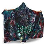Official Bleeding Heaven Evolutionary Descendant of Brutality Hooded Blankets - Crowdkill Apparel Death Metal Deathcore Hardcore Slam Merchandise