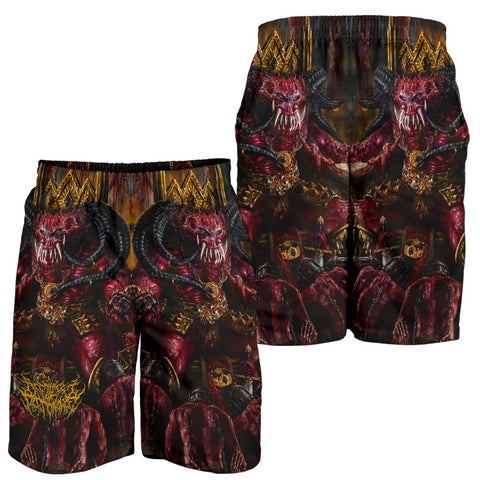 Official Architect of Dissonance  Realm Of The Deviant Throne Shorts - Crowdkill Apparel Death Metal Deathcore Hardcore Slam Merchandise