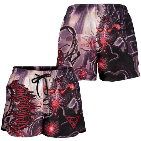 Official Vulvodynia Finis Omnium Ignorantiam Booty Shorts - Crowdkill Apparel Death Metal Deathcore Hardcore Slam Merchandise