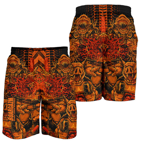 Official Boargazm Space Pigs Shorts - Crowdkill Apparel Death Metal Deathcore Hardcore Slam Merchandise