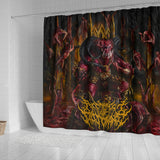 Official Architect of Dissonance  Realm Of The Deviant Throne Shower Curtain - Crowdkill Apparel Death Metal Deathcore Hardcore Slam Merchandise