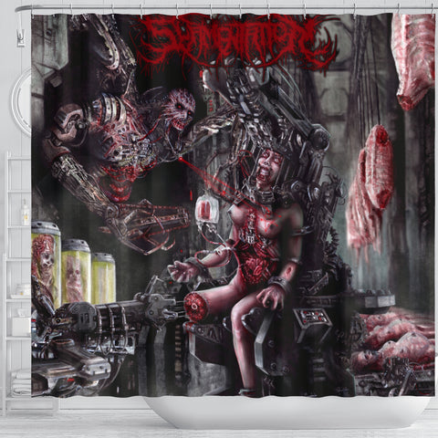 Official Slamentation Procreating A New Body Art Shower Curtain