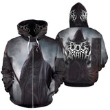 Official Bog Wraith All Hail Zip-Up - Crowdkill Apparel Death Metal Deathcore Hardcore Slam Merchandise