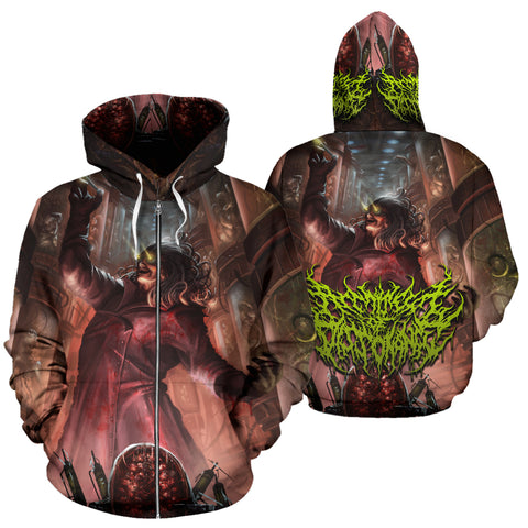 Official Architect Of Dissonance Vile Mechanical Origin Of Human Virulency Zip-Up - Crowdkill Apparel Death Metal Deathcore Hardcore Slam Merchandise