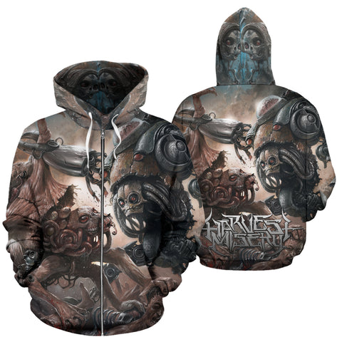 Official Harvest Misery Zip-Up - Crowdkill Apparel Death Metal Deathcore Hardcore Slam Merchandise