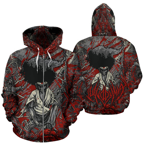 Official Vulvodynia Afro Slamurai Zip-up