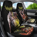Official Vulvodynia Psychosadistic Design Car Seat Cover - Crowdkill Apparel