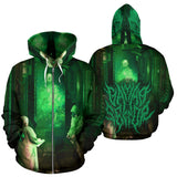 Official Gamma Sector Elements of Contamination Zip-Up - Crowdkill Apparel Death Metal Deathcore Hardcore Slam Merchandise