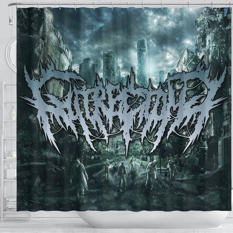 Official Gutrectomy Slampocalypse Shower Curtain - Crowdkill Apparel Death Metal Deathcore Hardcore Slam Merchandise