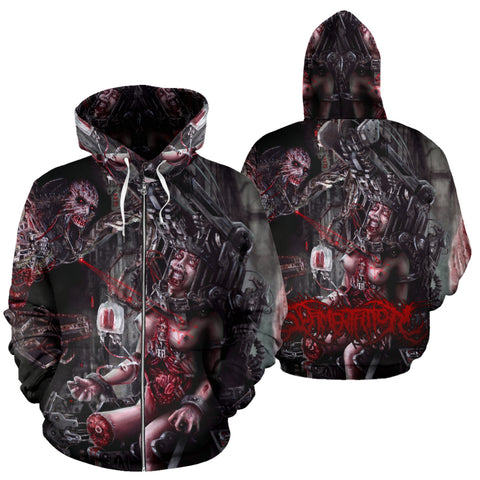 Official Slamentation Procreating A New Body Art Zip-Up - Crowdkill Apparel Death Metal Deathcore Hardcore Slam Merchandise