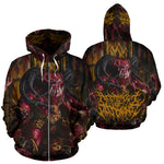 Official Architect Of Dissonance Realm Of The Deviant Throne Zip-Up - Crowdkill Apparel Death Metal Deathcore Hardcore Slam Merchandise