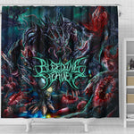 Official Bleeding Heaven Evolutionary Descendant of Brutality Shower Curtain - Crowdkill Apparel Death Metal Deathcore Hardcore Slam Merchandise