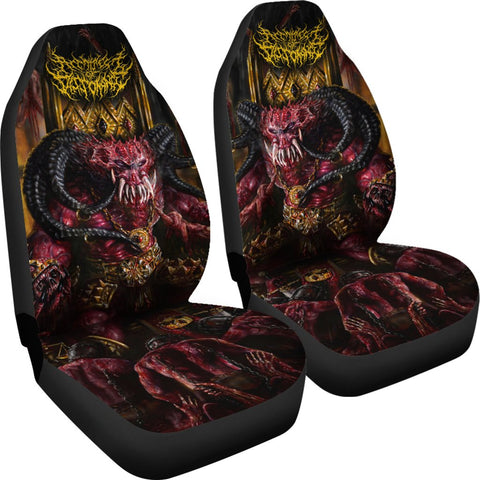 Official Architect Of Dissonance Realm Of The Deviant Throne Car Seat Cover - Crowdkill Apparel Death Metal Deathcore Hardcore Slam Merchandise