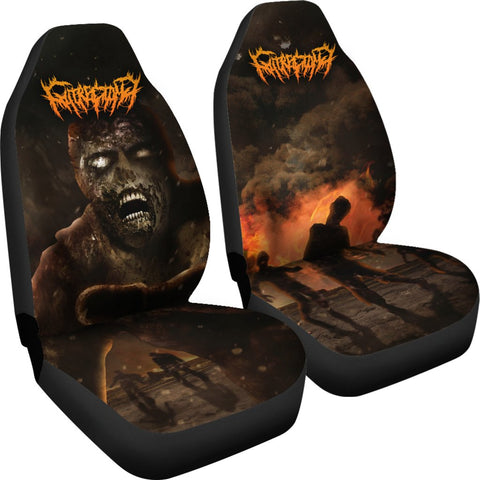 Official Gutrectomy Slamageddon Car Seat Cover - Crowdkill Apparel Death Metal Deathcore Hardcore Slam Merchandise