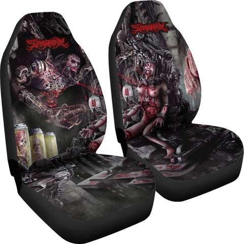 Official Slamentation Procreating A New Body Art Car Seat Cover - Crowdkill Apparel