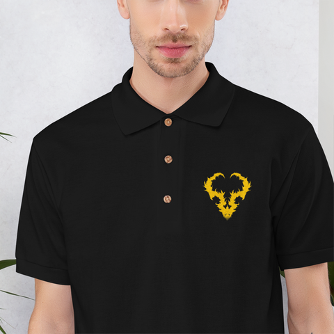 Official Vulvodynia GOLD Embroidered Polo Shirt