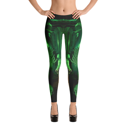 Official Gamma Sector Elements Of Contamination Leggings - Crowdkill Apparel Death Metal Deathcore Hardcore Slam Merchandise