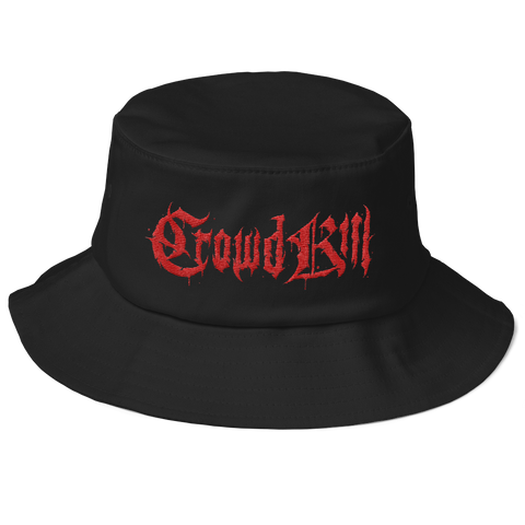 Crowdkill Bucket Hat - Crowdkill Apparel Death Metal Deathcore Hardcore Slam Merchandise
