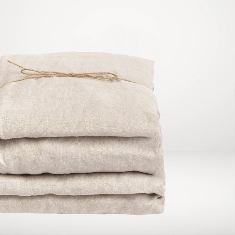 Washed linen - Sand Flat Sheet