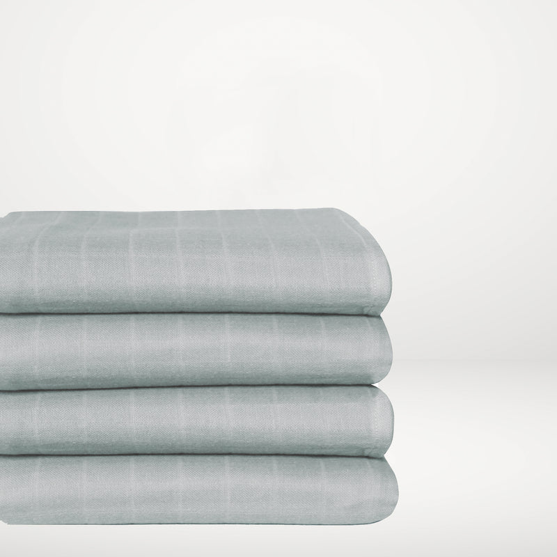 Muslin Cotton Crib - Teal Fitted Sheet