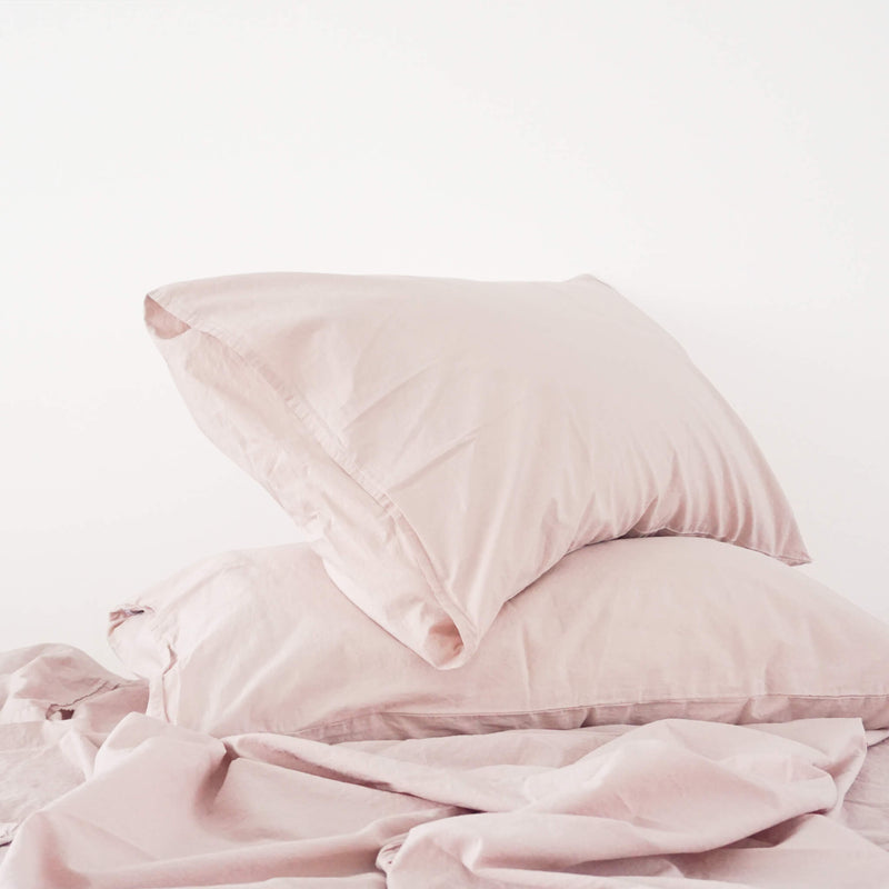 Cotton - Blush Pillowcase Set