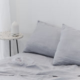 Washed linen - Chrome Pillowcase Set