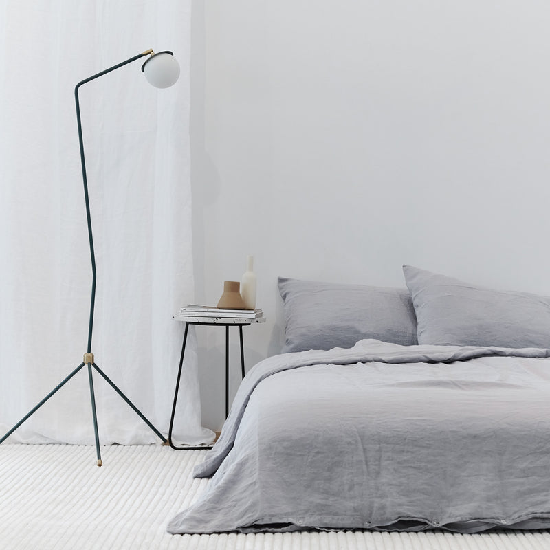 Washed Linen - Chrome Duvet Cover