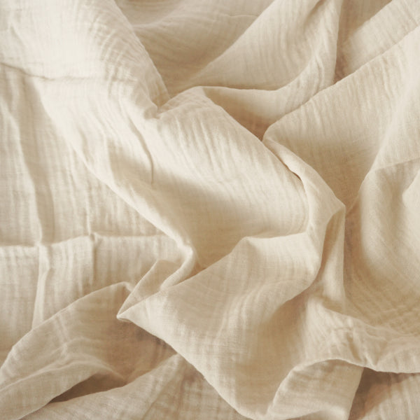 Muslin Cotton - Clay Flat Sheet