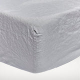 Washed linen - Chrome Fitted Sheet