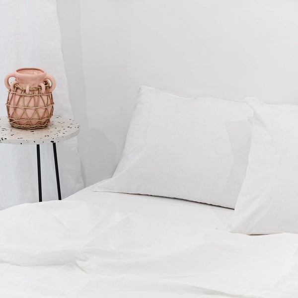 Percale de coton- Ensemble de literie Whisper White