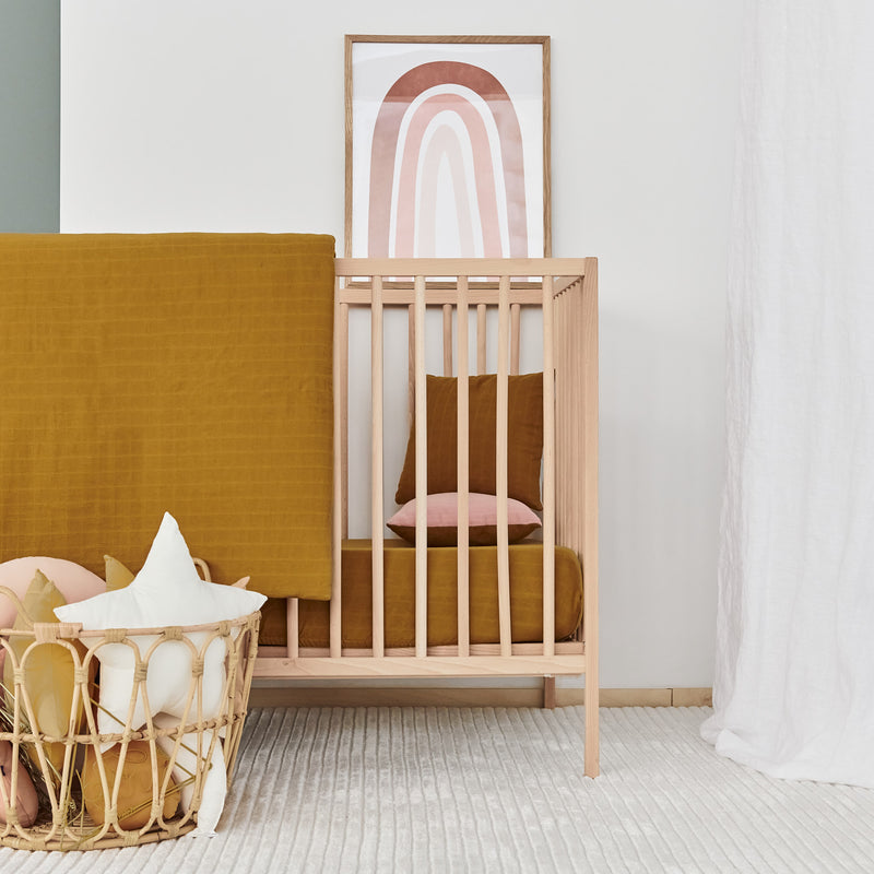 Muslin Cotton Crib - Amber Swaddle
