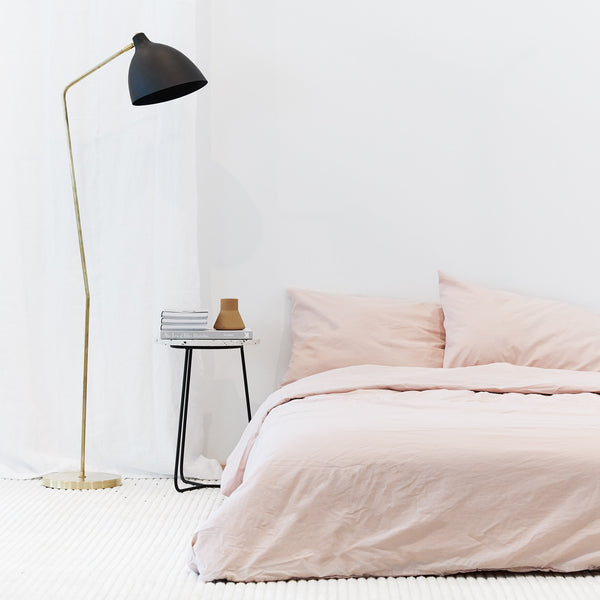 Percale de coton- Ensemble de literie Blush