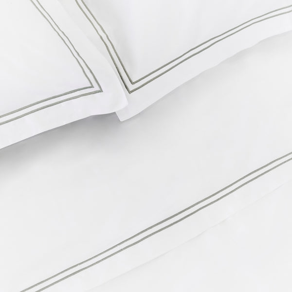 Luxe Cotton - Chrome Flat Sheet