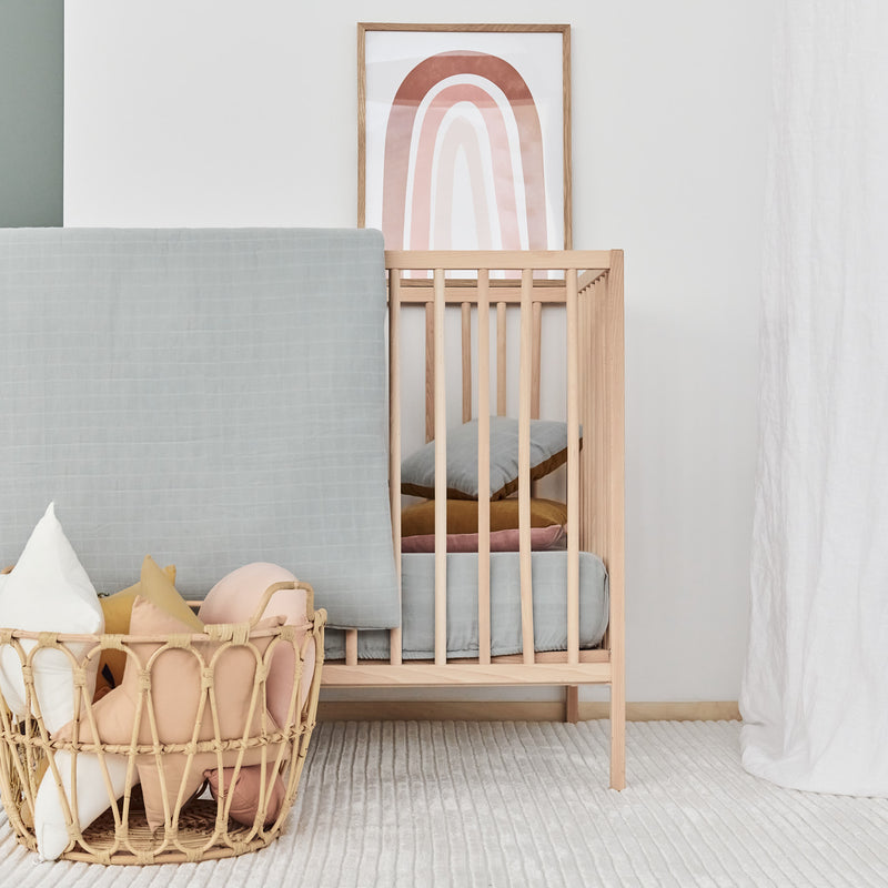 Muslin Cotton - Crib Set Teal