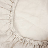Washed linen - Sand Fitted Sheet