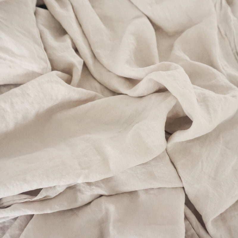 Washed linen - Sand Pillowcase Set